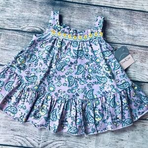 NWT Pippa&Julie 9M Pastel Paisley Dress
